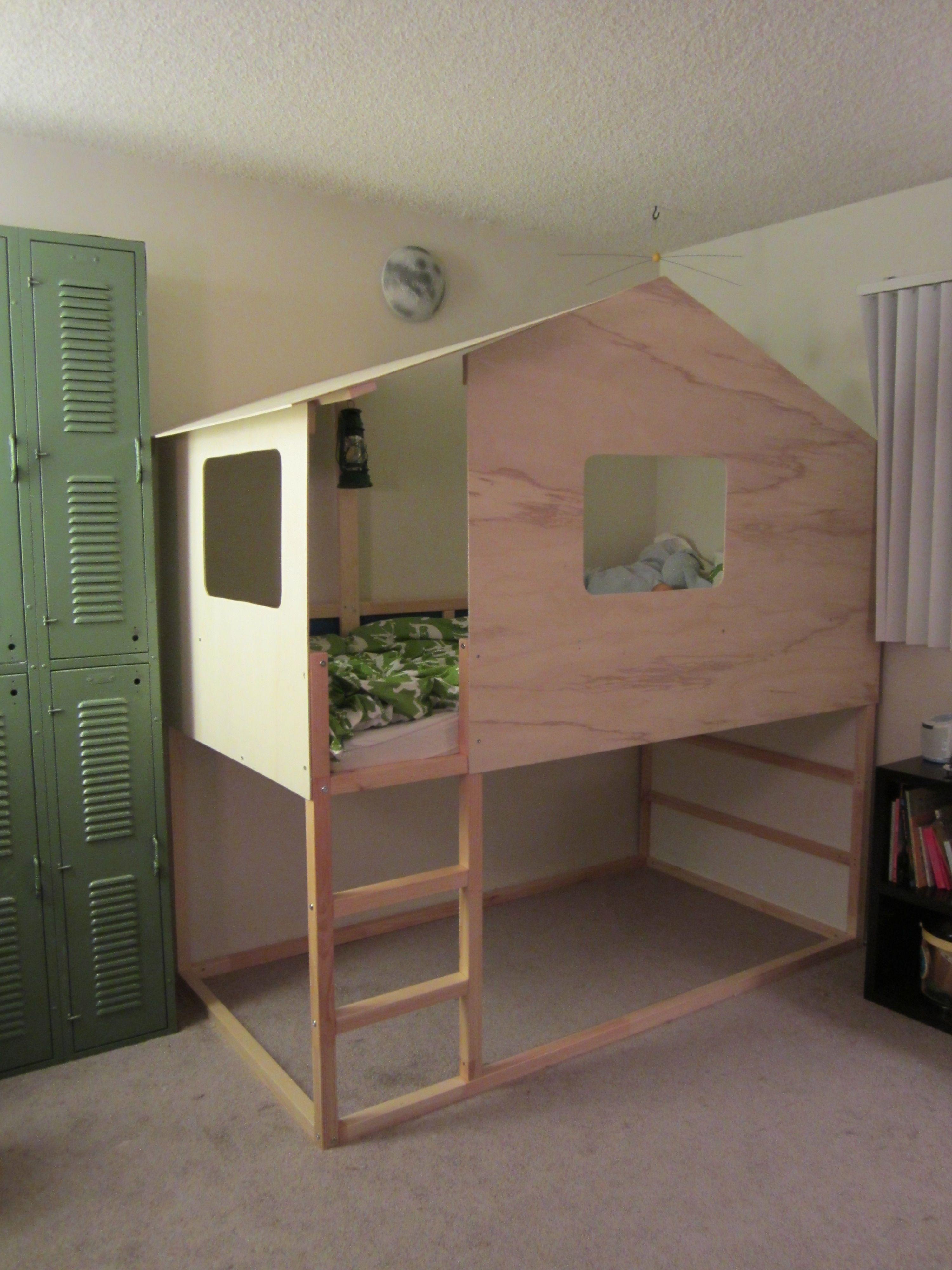 Kura loft bed ideas  IKEA Hack Kura Bed into Modern Cabin  Lils bed  Pinterest  Kura