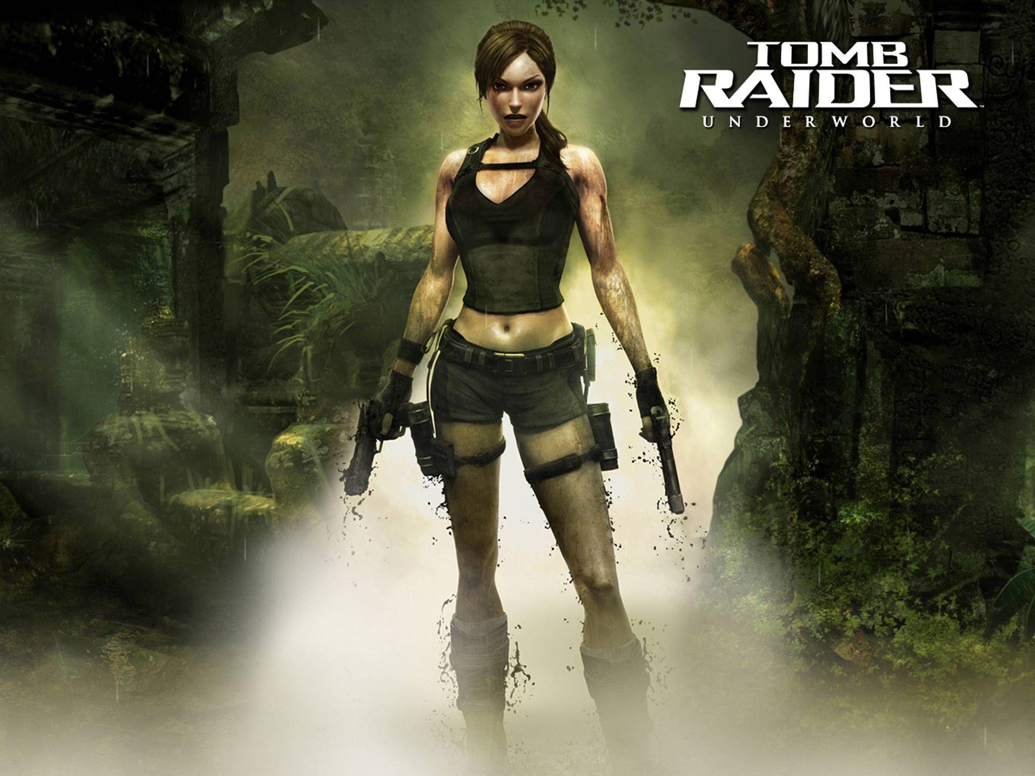 Lara Croft Retro Japanese Mens Vest