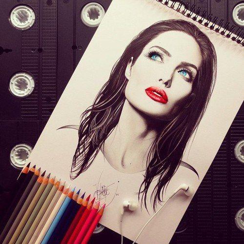 صور رسومات ملونه رسومات بنات صور مرسومه Art Pencil Drawings Tumblr Ilustration Art