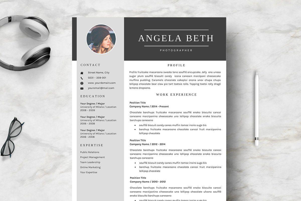 Résumé Templates Amber Resume template, Unique resume