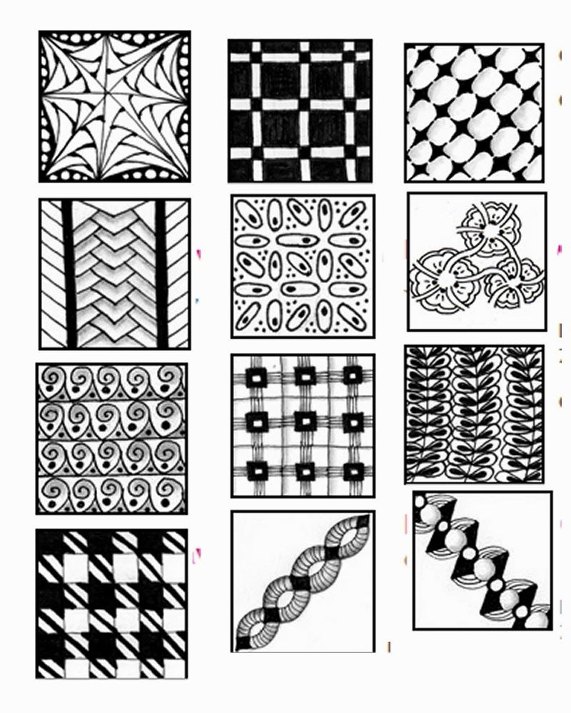 ZENTANGLE PATTERN SHEETS - Go Craft Something | Zentangle patterns ...