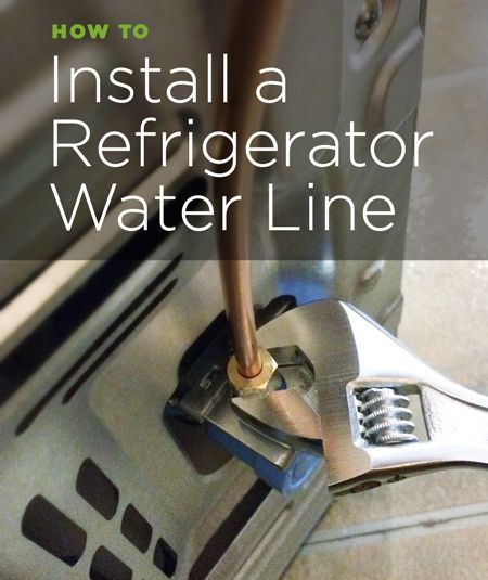How To Install A Refrigerator Water Line Refrigerator Installation Diy Plumbing Old Refrigerator