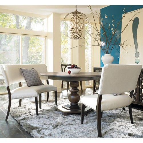 Dalliance 3 Piece Round Table And Banquette Set By Drexel HeritageR