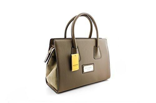Valentino By Mario Valentino Genuine Leather Kiria Satchel Handbag (814189024234) Taupe #valentinopurse