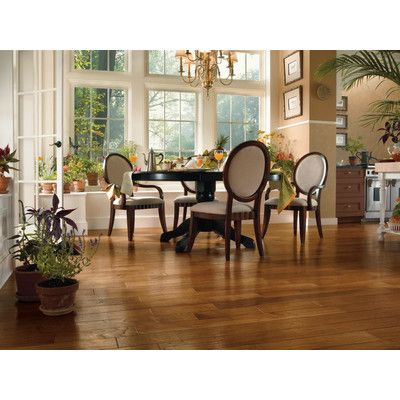 """Forest Valley Flooring 5"""" Engineered Hickory Hardwood Flooring in Chateau Brown"""