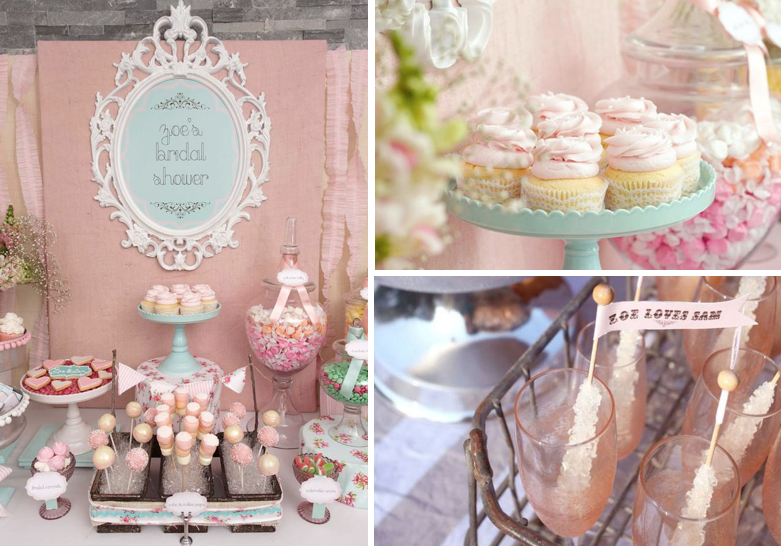 shabby chic vintage themed bridal shower planning via karas party ideas wwwkaraspartyideascom