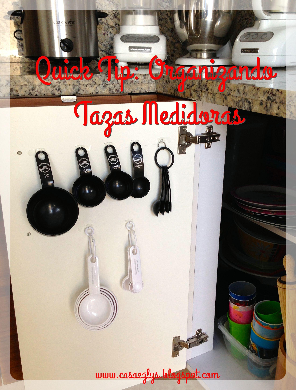 #Quick Tip #Organizando Tazas medidoras #measuring #cups #spoon