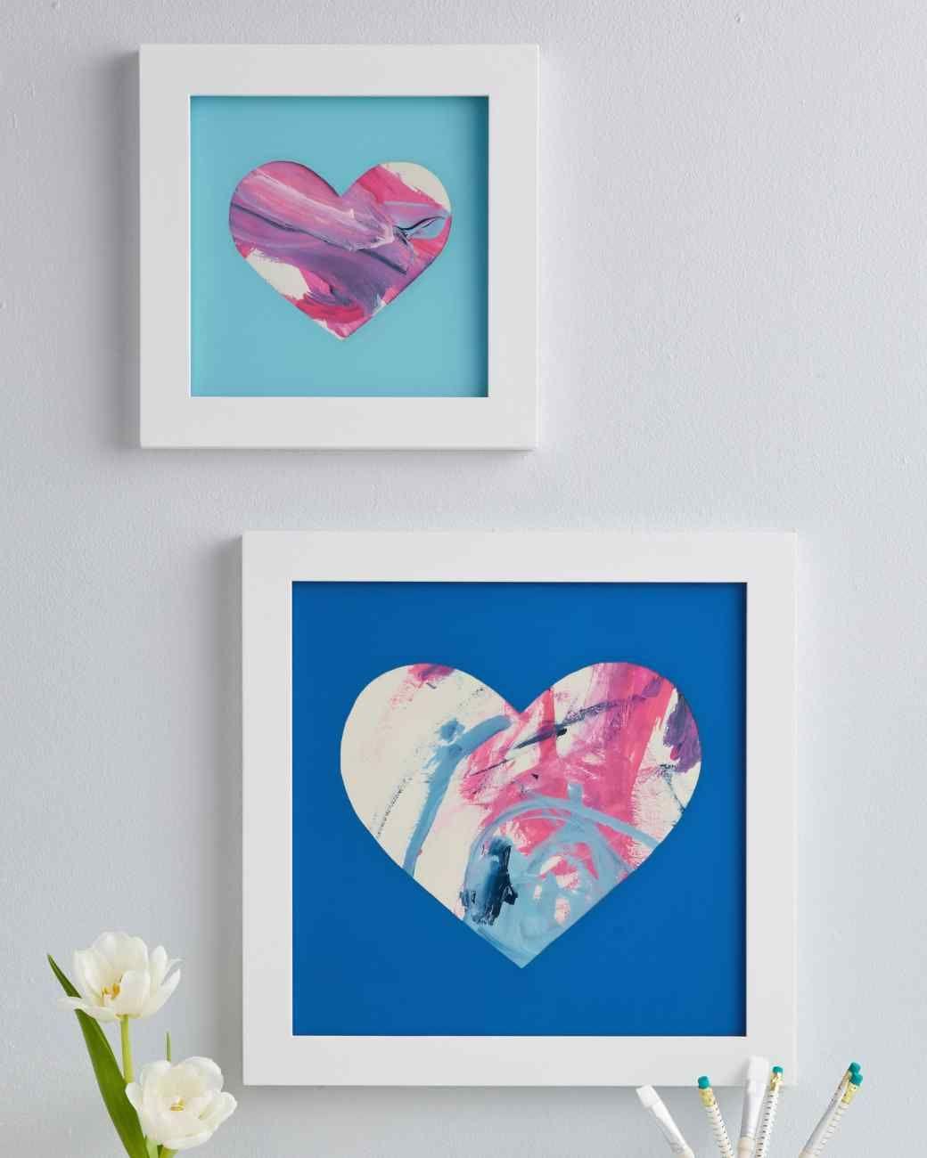 Heart framed shadow box heart shaped frame shadow box for Diy map heart frame