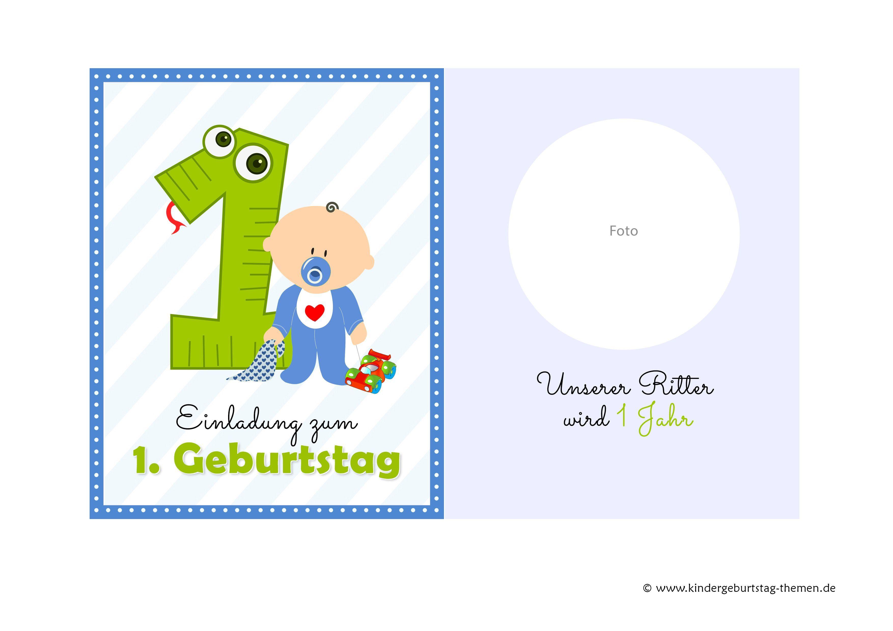 Einladung 1 Geburtstag Kindergeburtstag Ideen Einladung