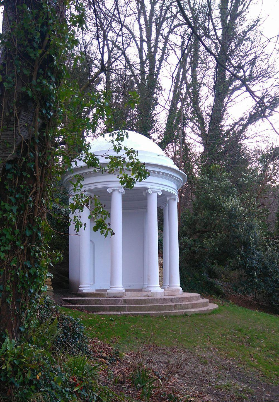 January: Milton's Temple (c1755) at Mount Edgcumbe, Cornwall