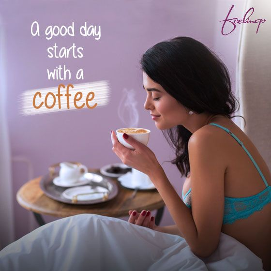 Let go of your midweek blues by starting your day with a nice strong cup of coffee! #Feelings #Coffee