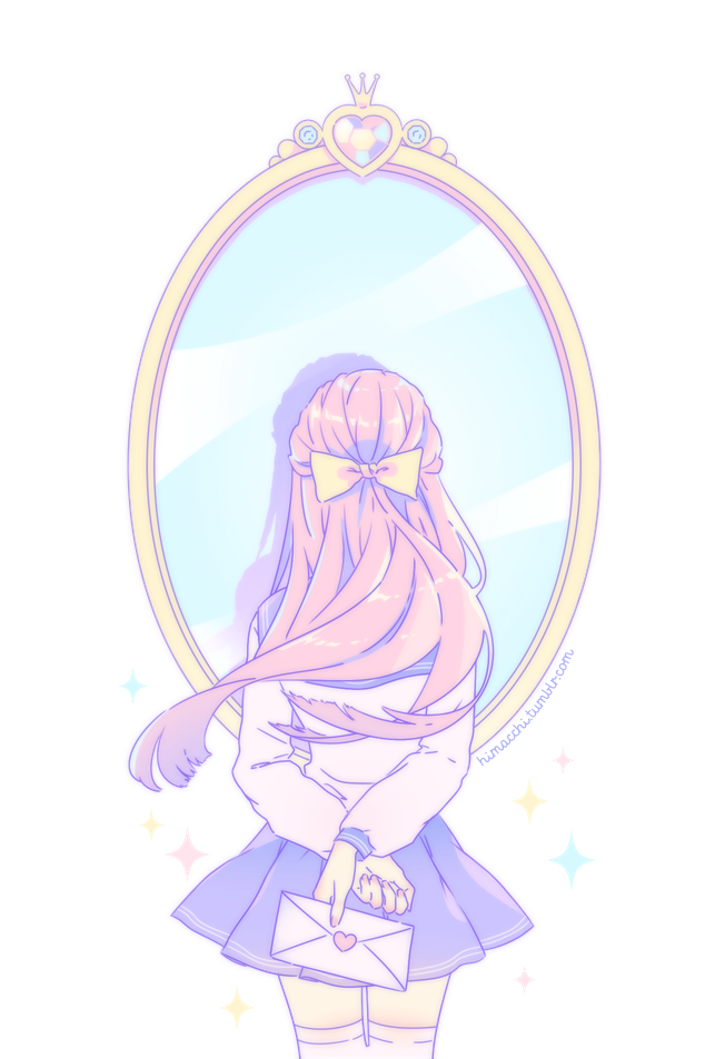 Be Your Own Senpai And Notice Yourself The Picture Is Transparent Aesthetic Anime Kawaii Art Girls Cartoon Art