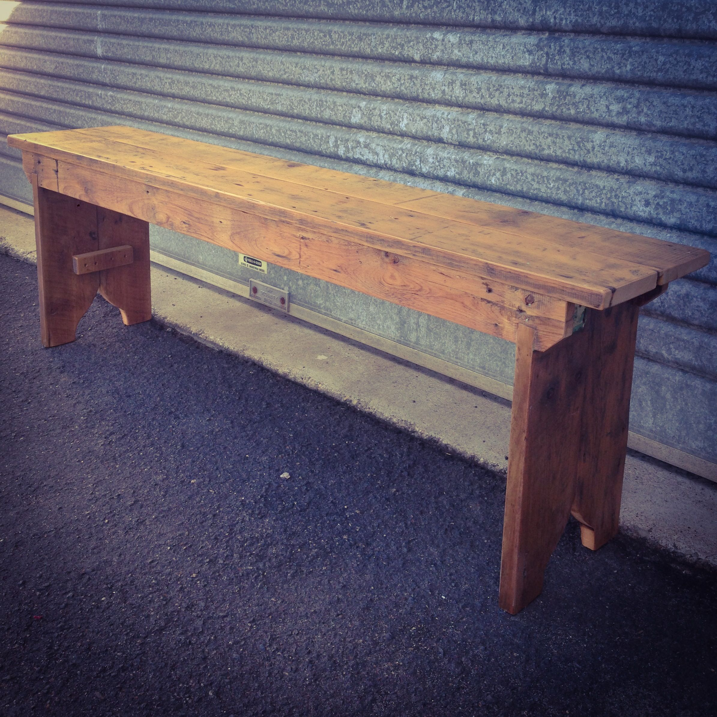 recycled timber bench seat patio tablebench seatgarden furniturepallet