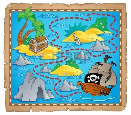 Mapa Del Tesoro Imagen Tema Mapas Del Tesoro Mapa Del Tesoro Pirata Mapas De Piratas