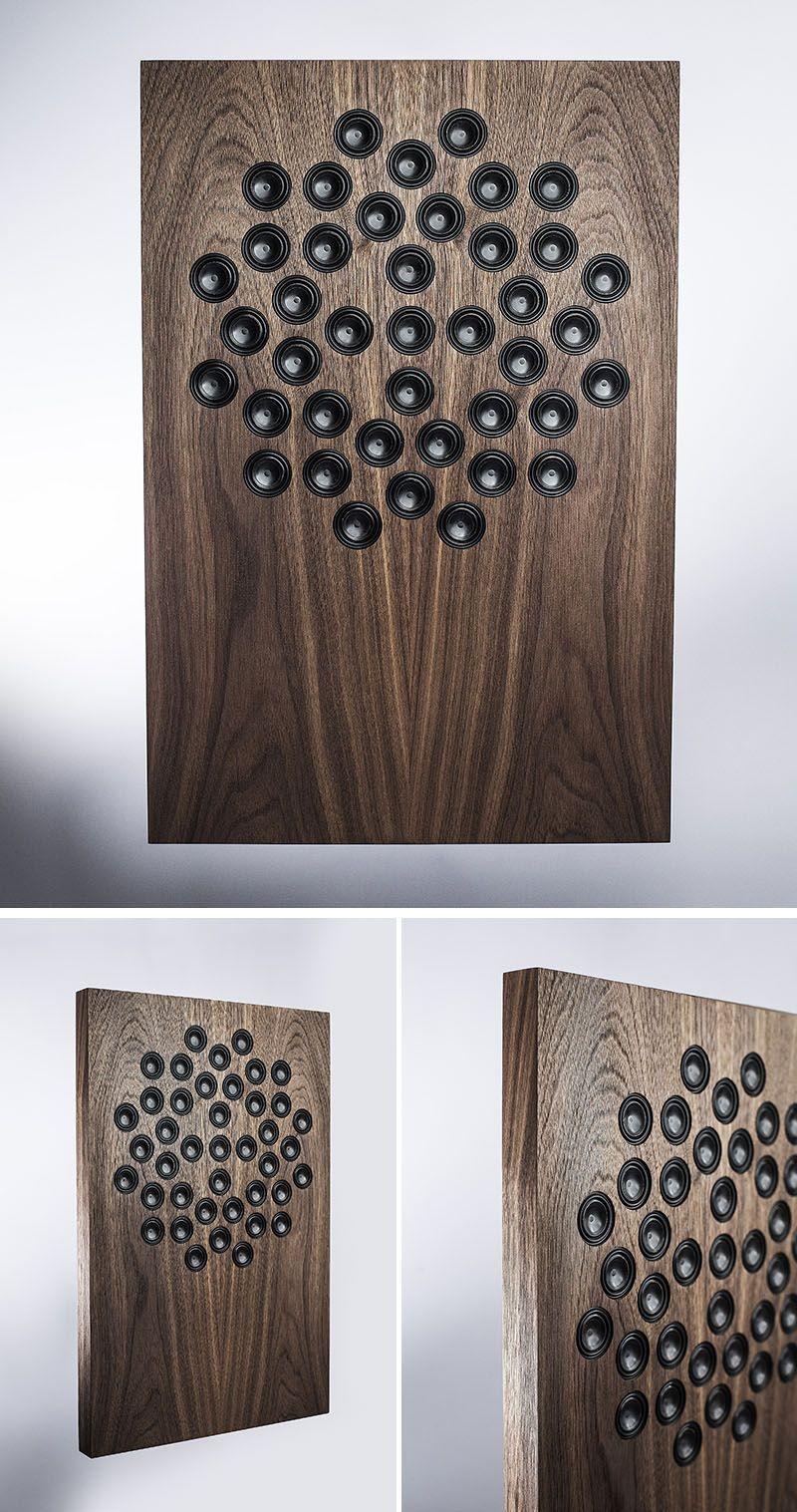 These Wireless Wall Mounted Speakers Look More Like Art In Wall Speakers Speaker Design Audio Design