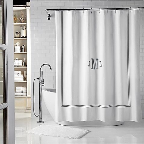 WamsuttaR Baratta 72 Inch X 84 Shower Curtain In White Charcoal