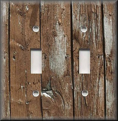 Light Switch Plate Cover Home Decor Rustic Image Of Brown Wood Planks