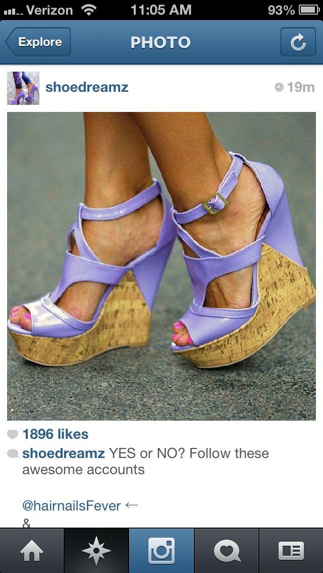 Pretty purple wedges.