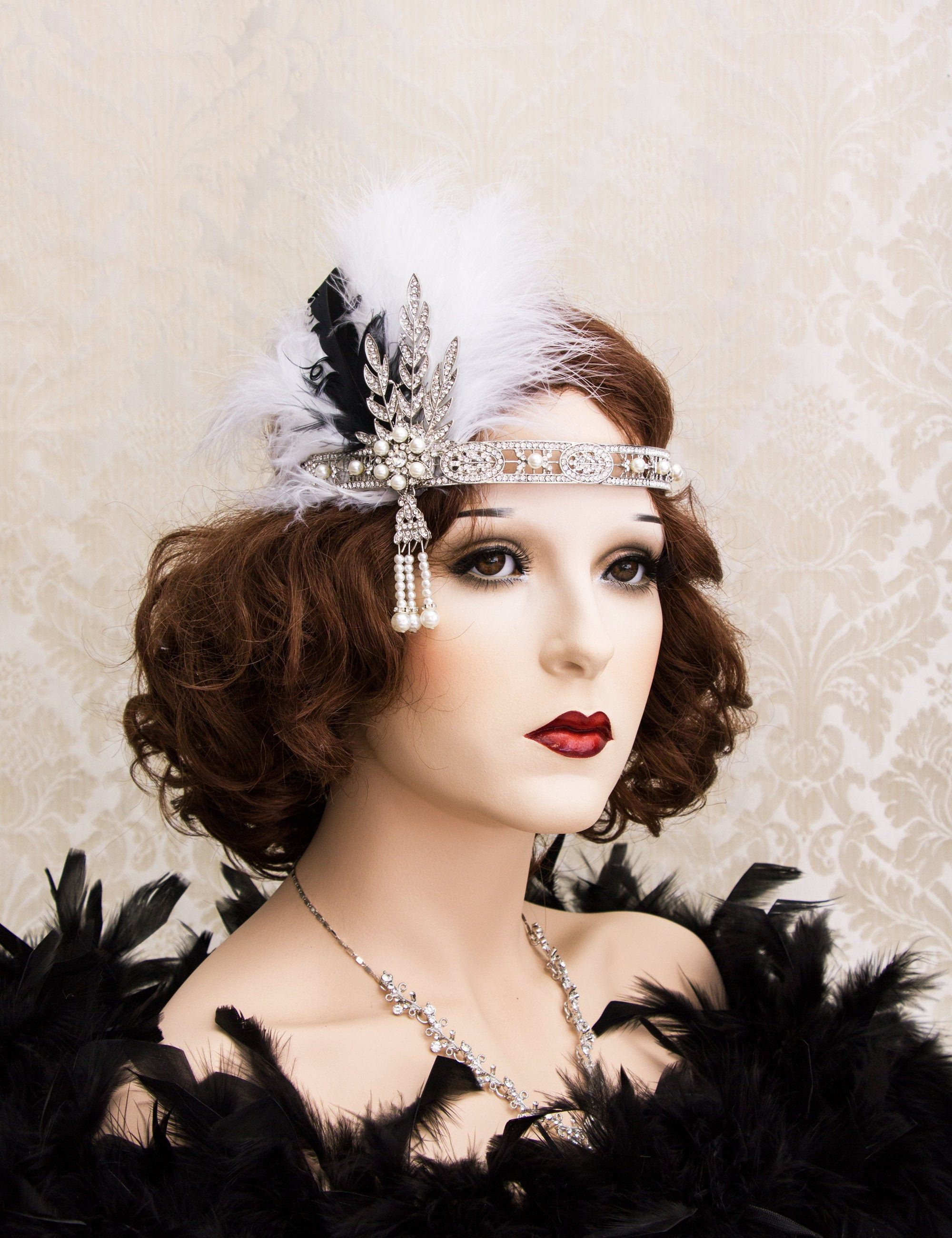 20s 1920s Headband Bridal Silver Gold 20/'s Gatsby Headpiece Costume Accessories