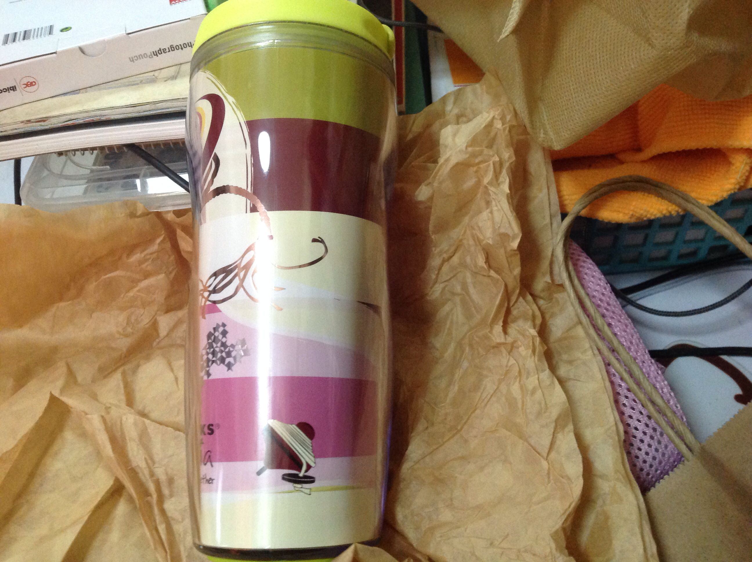 15th anniversary tumbler the Gasing motif from Starbucks