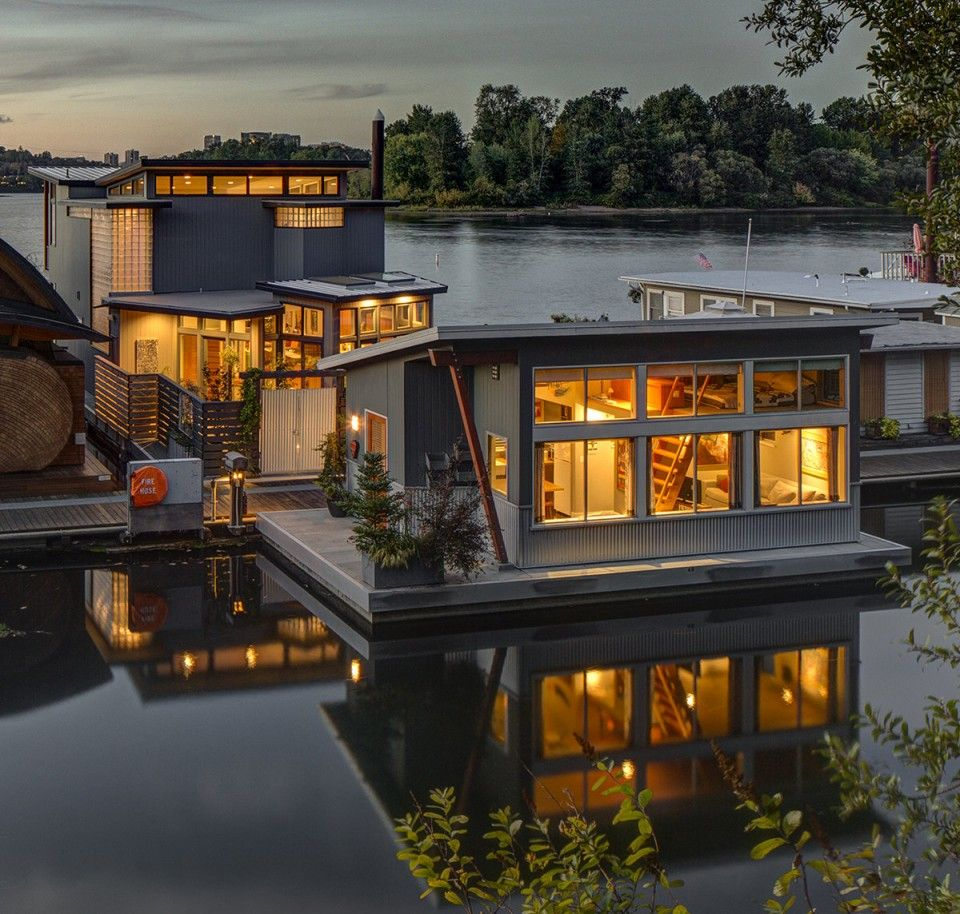 Portland floating homes google search earthships for Portland floating homes