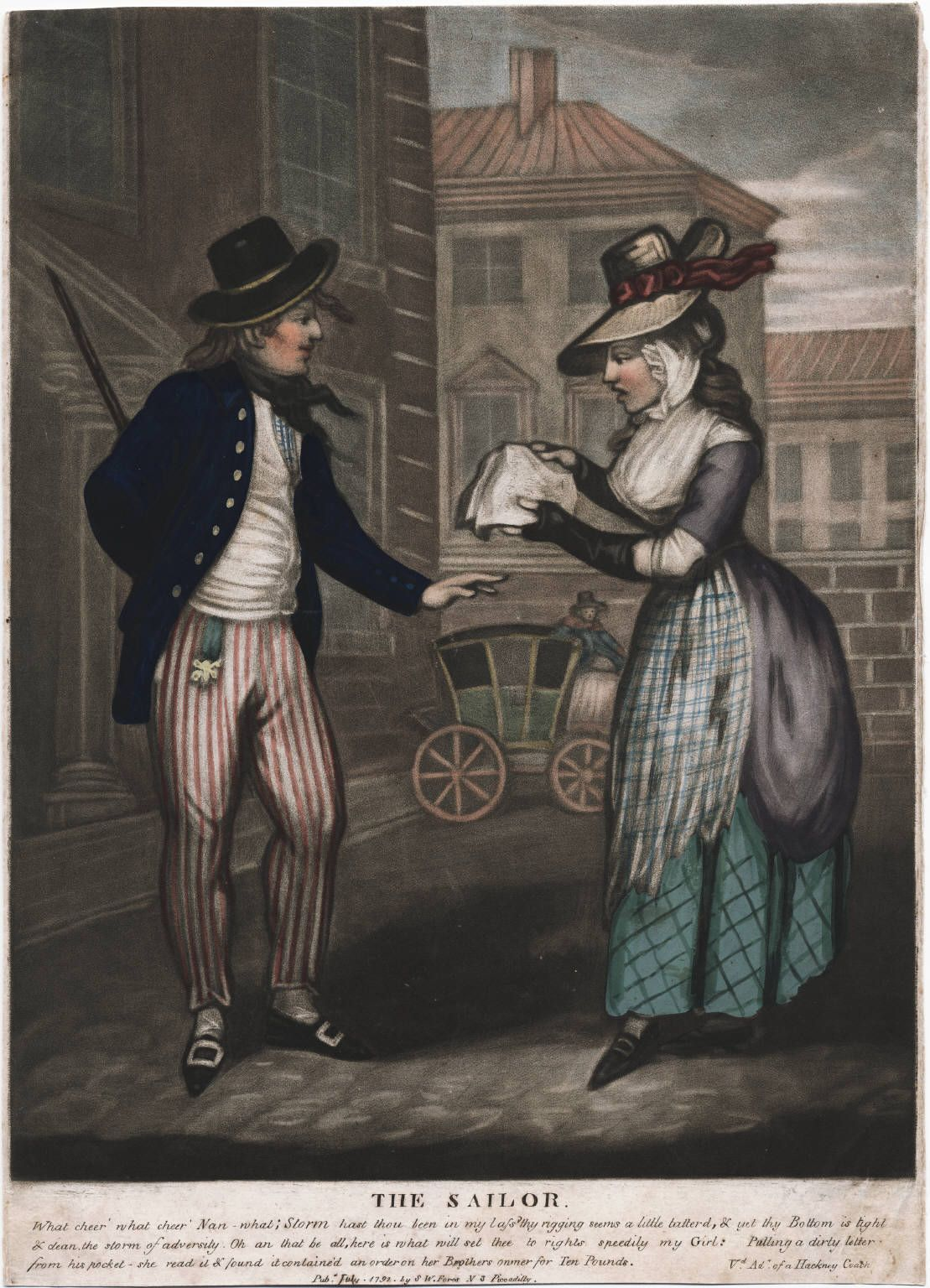 She's natty... and yet her apron's pretty ratty!!     Title:  The sailor  Published:  [London] : Pub. July 1792 by S.W. Fores, N. 3 Piccadilly, [1792]