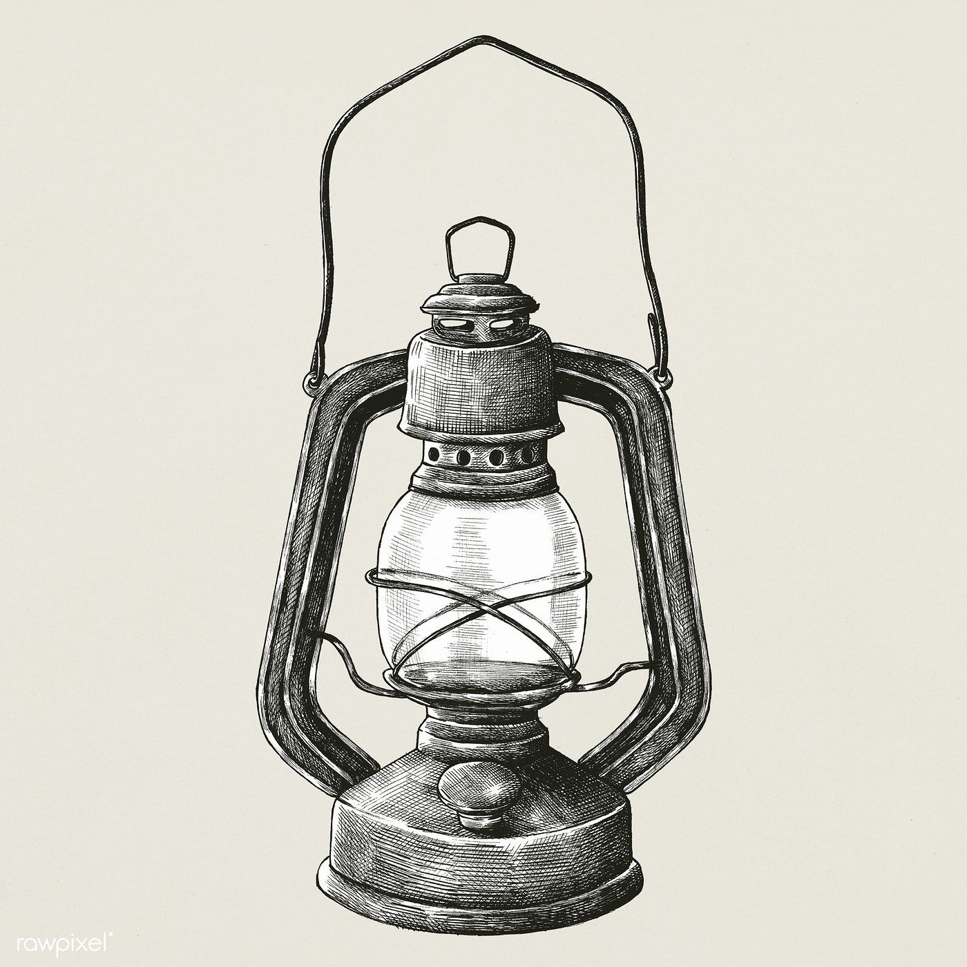 Hand Drawn Retro Portable Lantern Premium Image By Rawpixel Com How To Draw Hands Lamp Tattoo Lantern Illustration