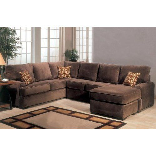 amazon com sectional sofa couch chaise with block feet in chocolate rh pinterest com chocolate brown velvet sectional sofa chocolate brown sectional sofa with chaise