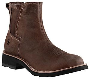 Ariat® Ambush™ Men's Distressed Brown Round Toe Shoe Boot | For ...