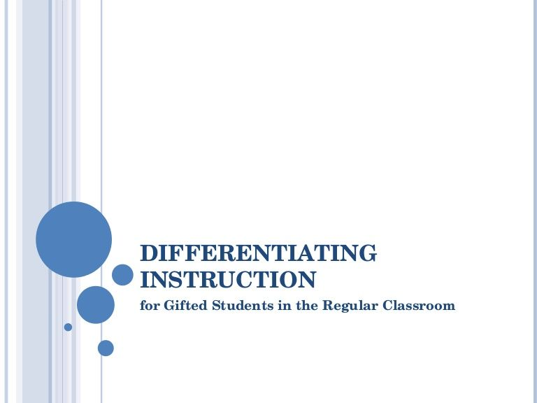 Differentiating Instruction For Gifted Learners By Drummosh Via