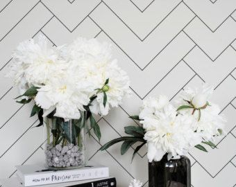 Removable Wallpaper For Apartments geometric removable wallpaper / trendy selfthinknoirwallpaper