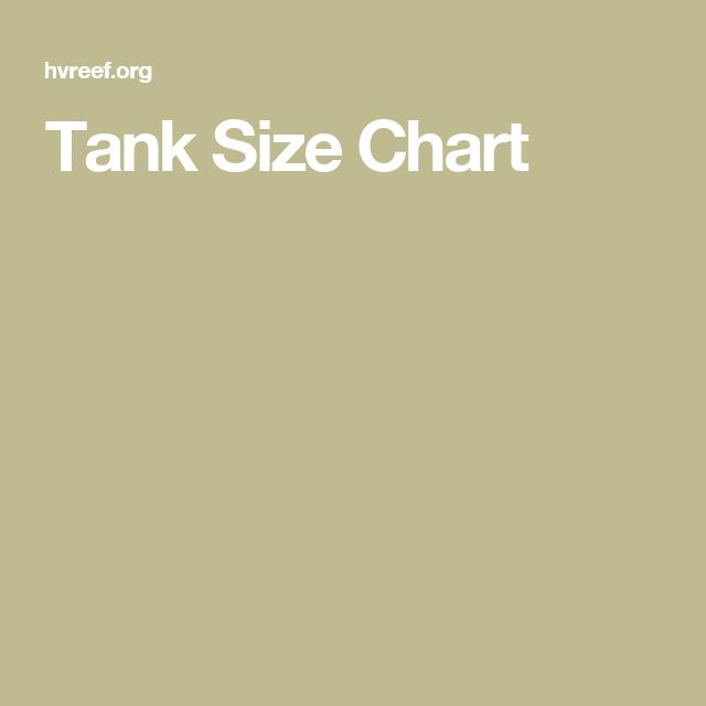 Tank Size Chart Aquarium Pinterest Chart And Aquariums