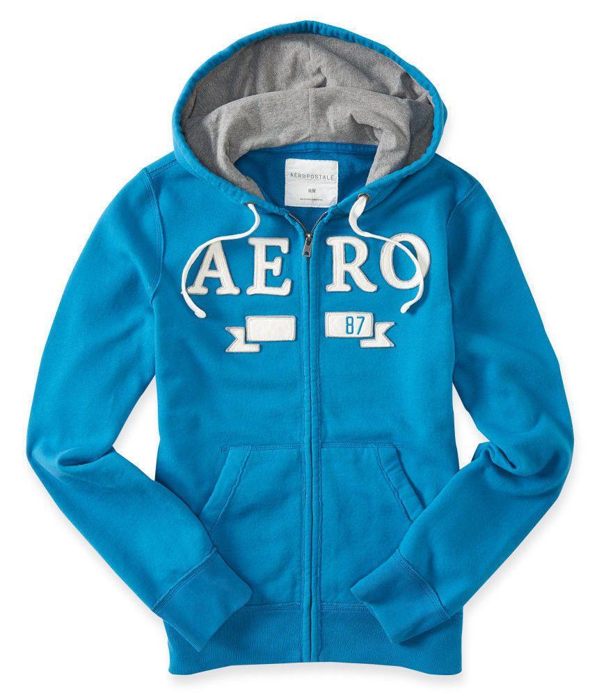Blue aeropostale hoodie