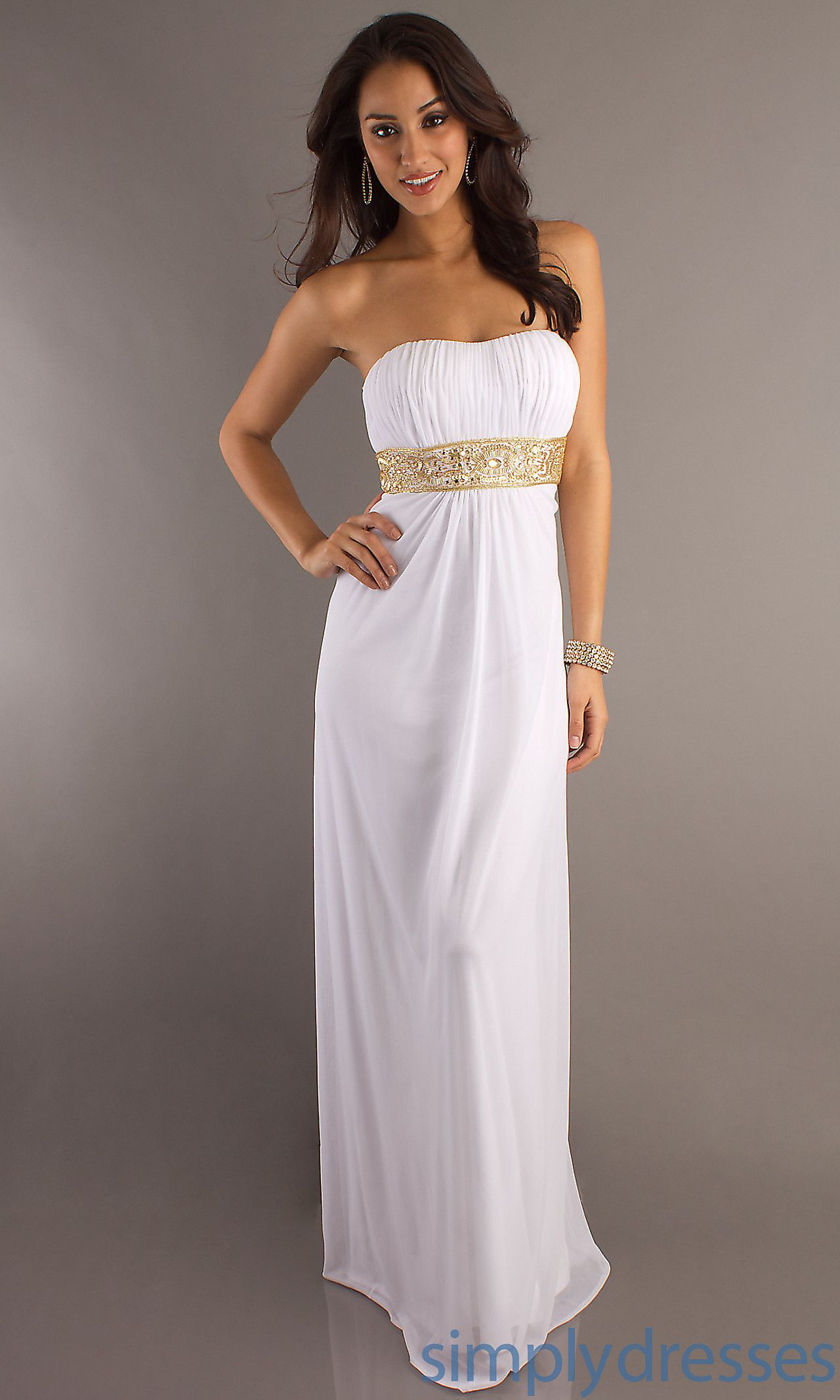 Classic strapless evening gown by temptation te prom