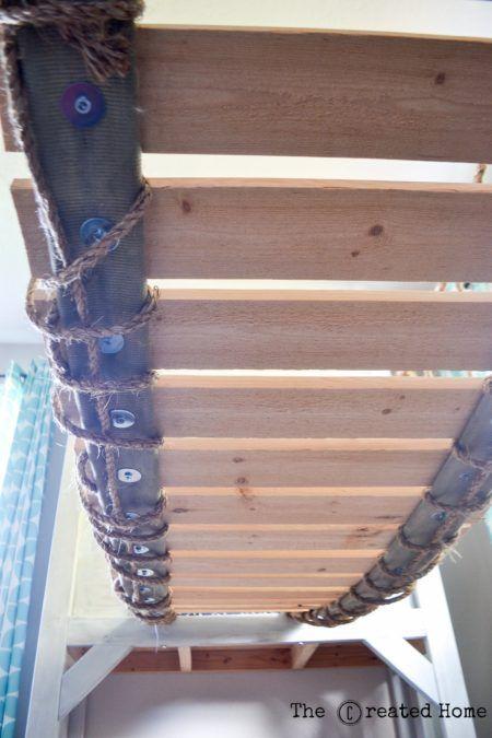 How we built a playroom rope bridge