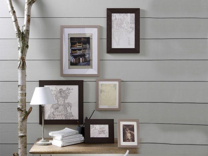 ensemble de cadres pour une ambiance d tendue r f cadre bois brut nature zen pinterest. Black Bedroom Furniture Sets. Home Design Ideas