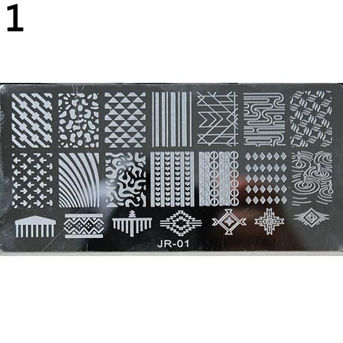 Photo of Nail Stamping Plates Stainless Steel Nail Art Image Manicure DIY Template Tool – Gray