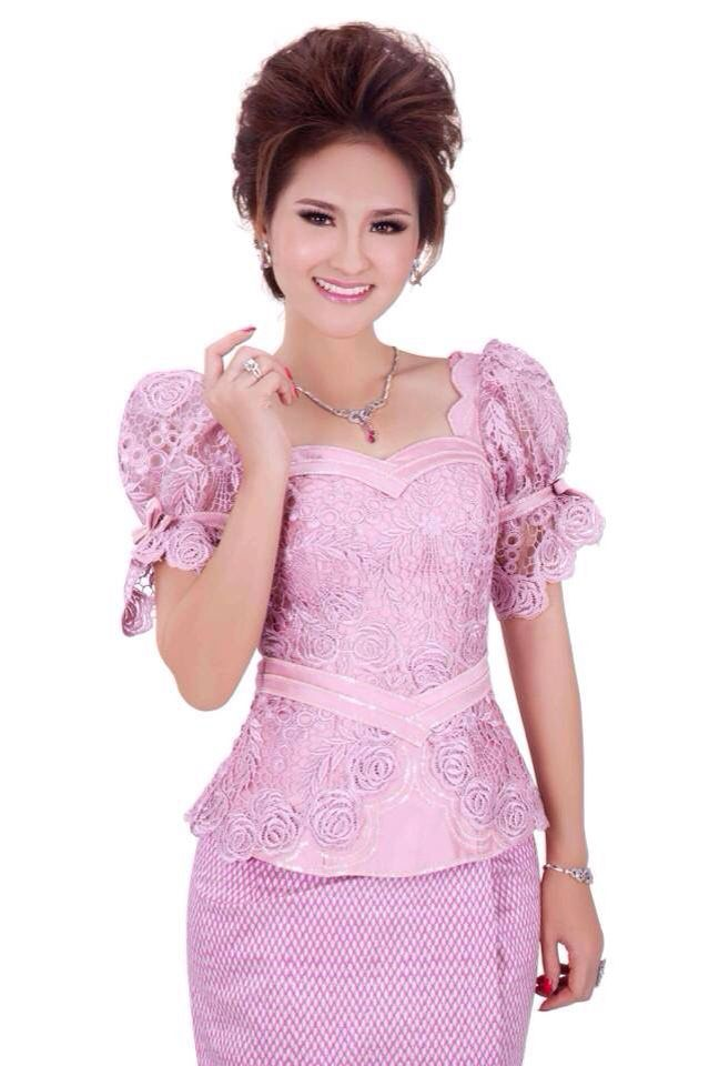 Khmer traditional outfit | vestidos tafetan 1 | Pinterest | Vestido ...