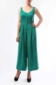 The Alphine Green Coco Jumpsuit by BANNOU