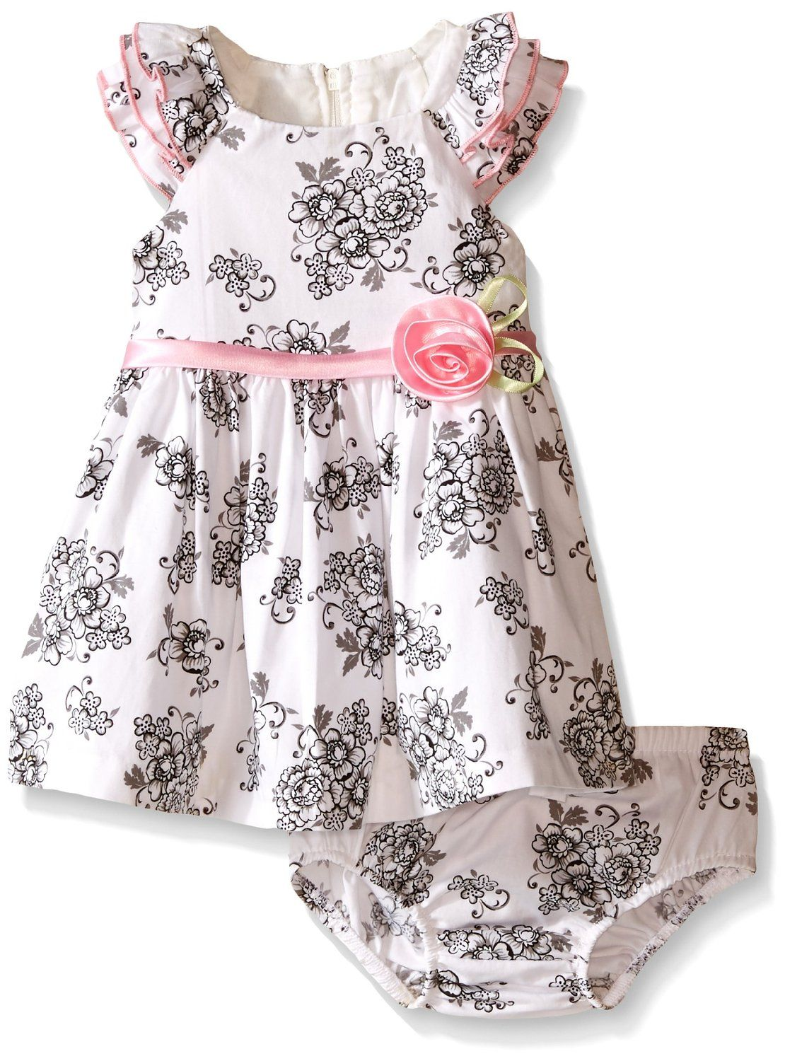 FREE SHIPPING Bonnie Jean Baby Girl Flower Sundress Bloomers Size Choice
