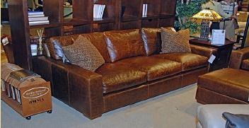 Acid Washed Rustic Leather Sofa and Love Seat and Chair also ...