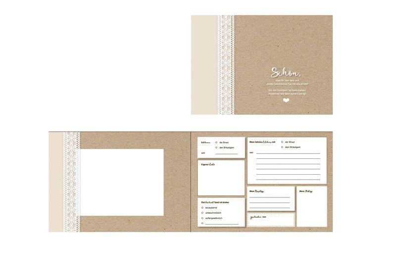 Hochzeitsgastebuch Gastebuch Hochzeit Vintage Mit Fragen Ein