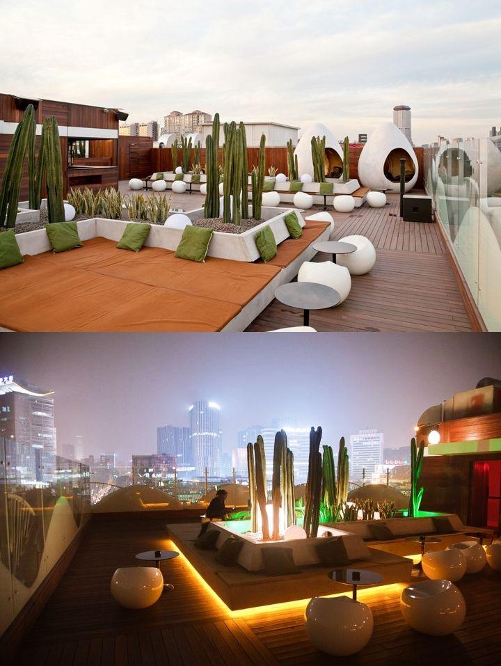 Timeout Beijing Bar Club Award Winner 2013 Migas Sanlitun Beijing Rooftop Design Rooftop Restaurant Roof Styles