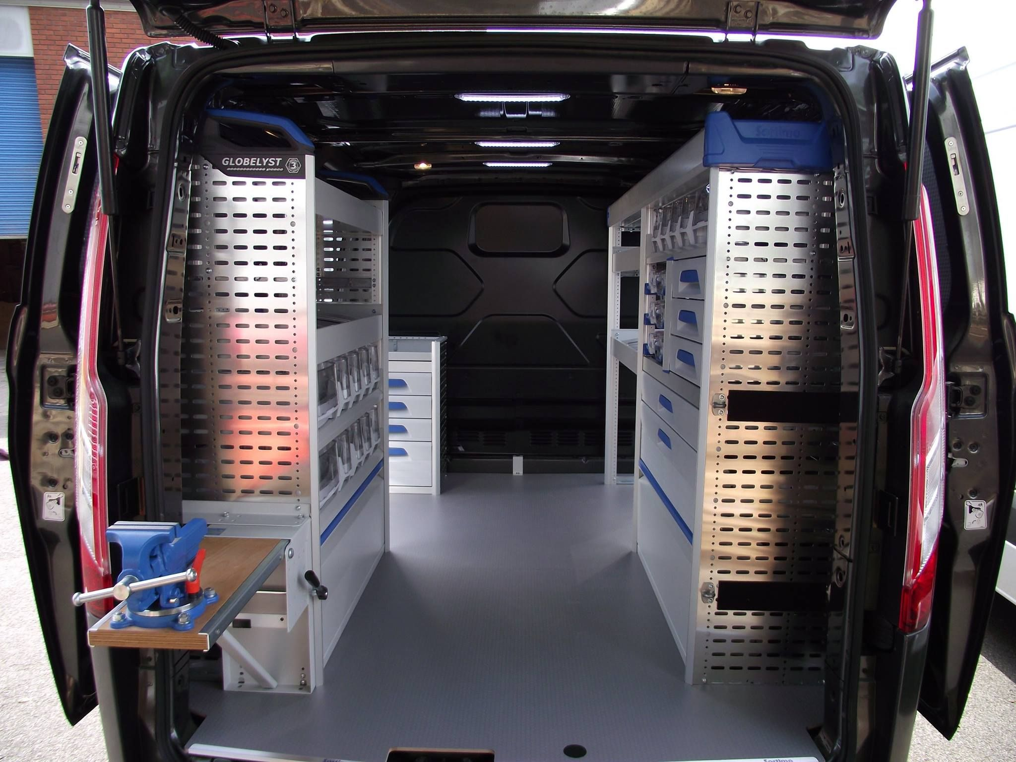 Ford Custom Sport Installed With Sortimo Racking Fitted To The Near Side And Off Side Wednesdaymotivation Sortimo Racking Vanlife