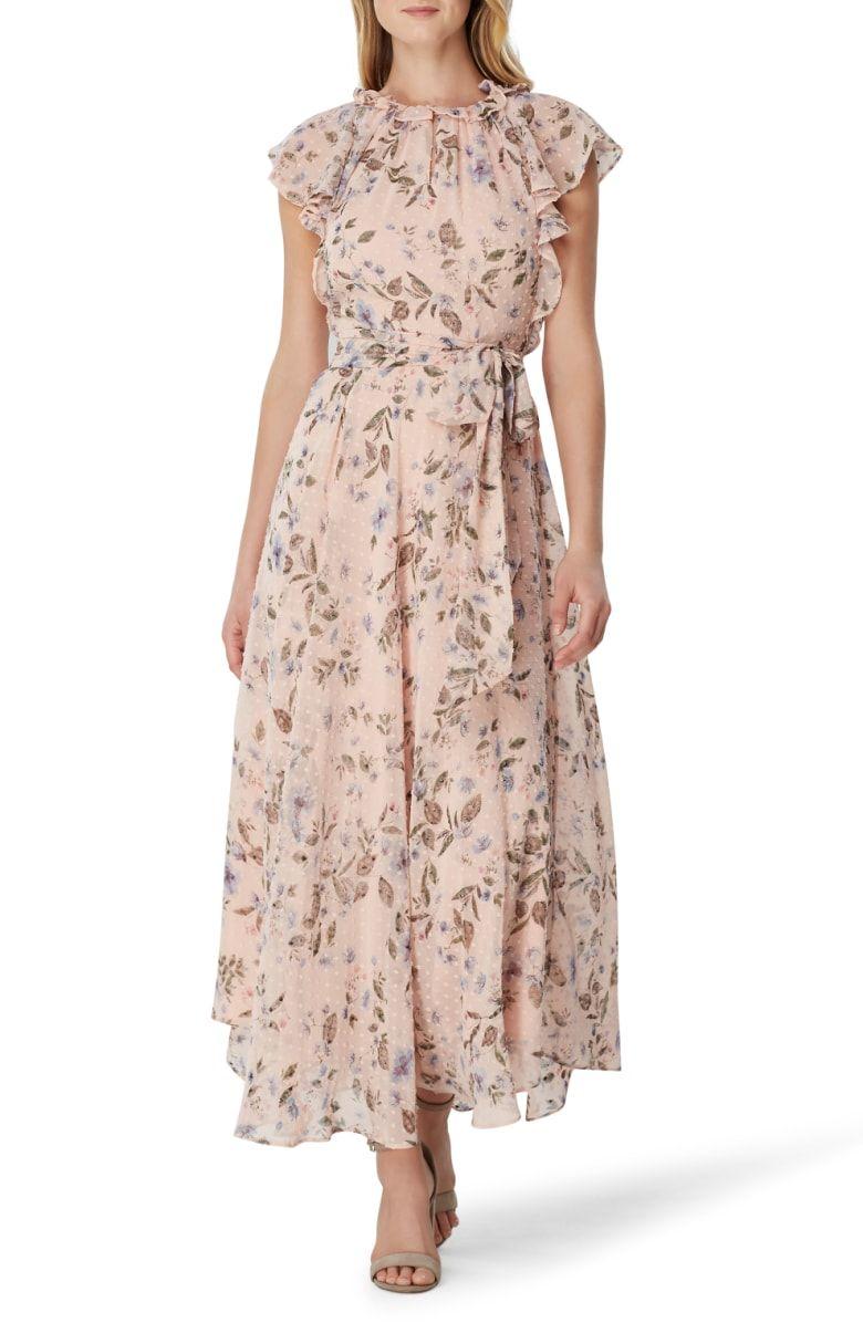 Tahari Swiss Dot Maxi Dress Nordstrom Maxi Dress Afternoon Dress Day Dresses [ 1196 x 780 Pixel ]