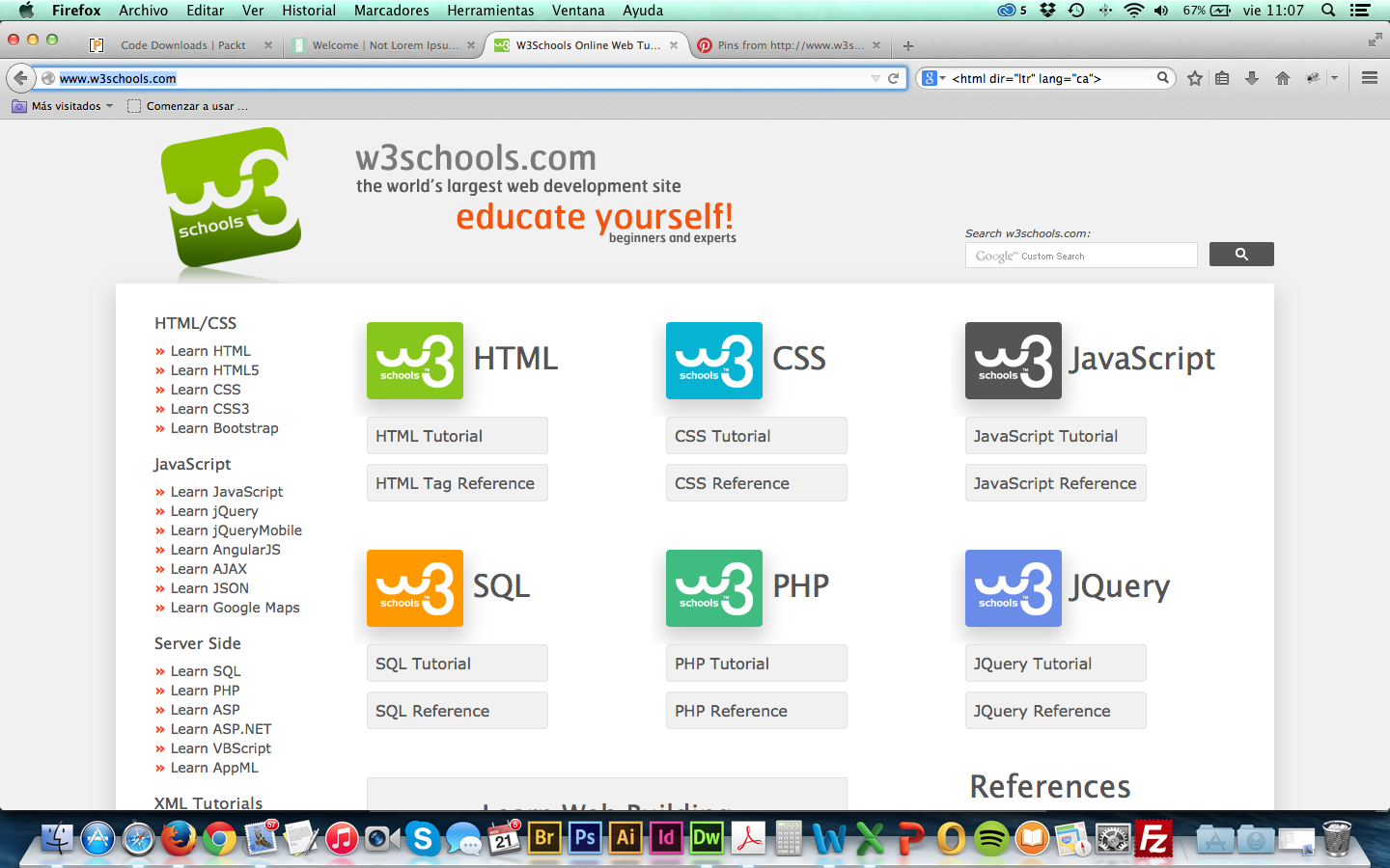 W3schools Is Optimized For Learning Testing And Training Learn Html Web Development Html Tutorial