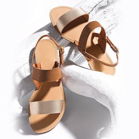 Sandales plates à brides femme