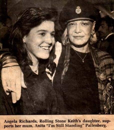 Angela Richards with her mum Anita Pallenberg | STONES ...