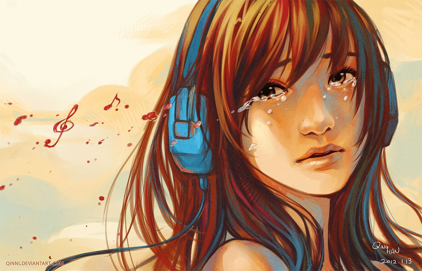 Music can both break... by *Qinni on deviantART