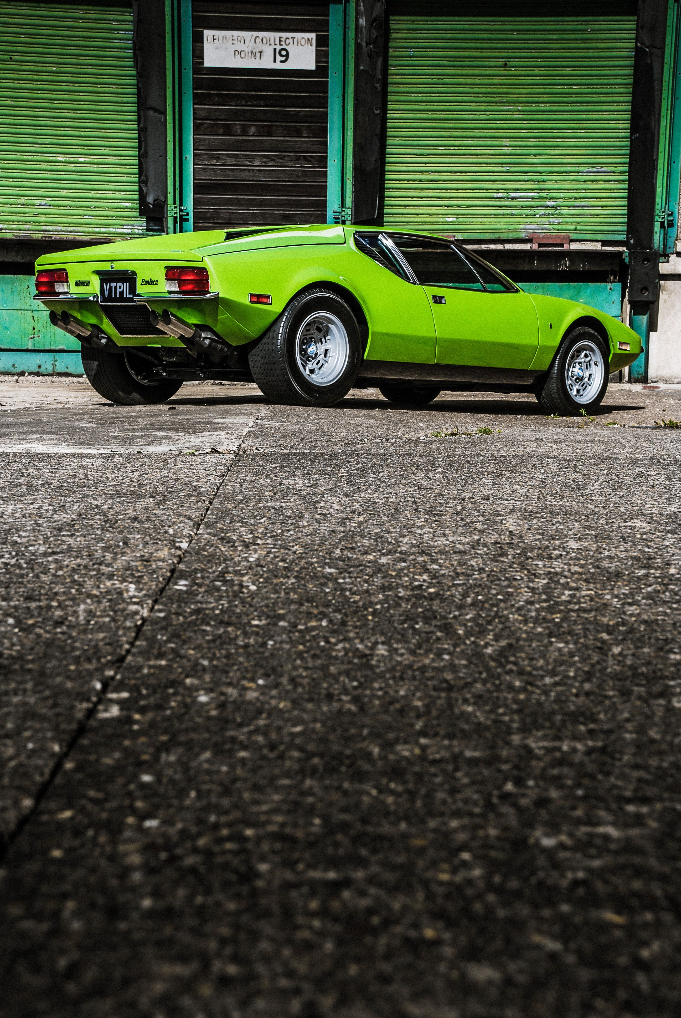 1972 De Tomaso Pantera Iconic Classic Italian Supercar In Factory Apple Green Fully Restored At Three Point Fo Super Cars Classic Cars Muscle Classic Cars